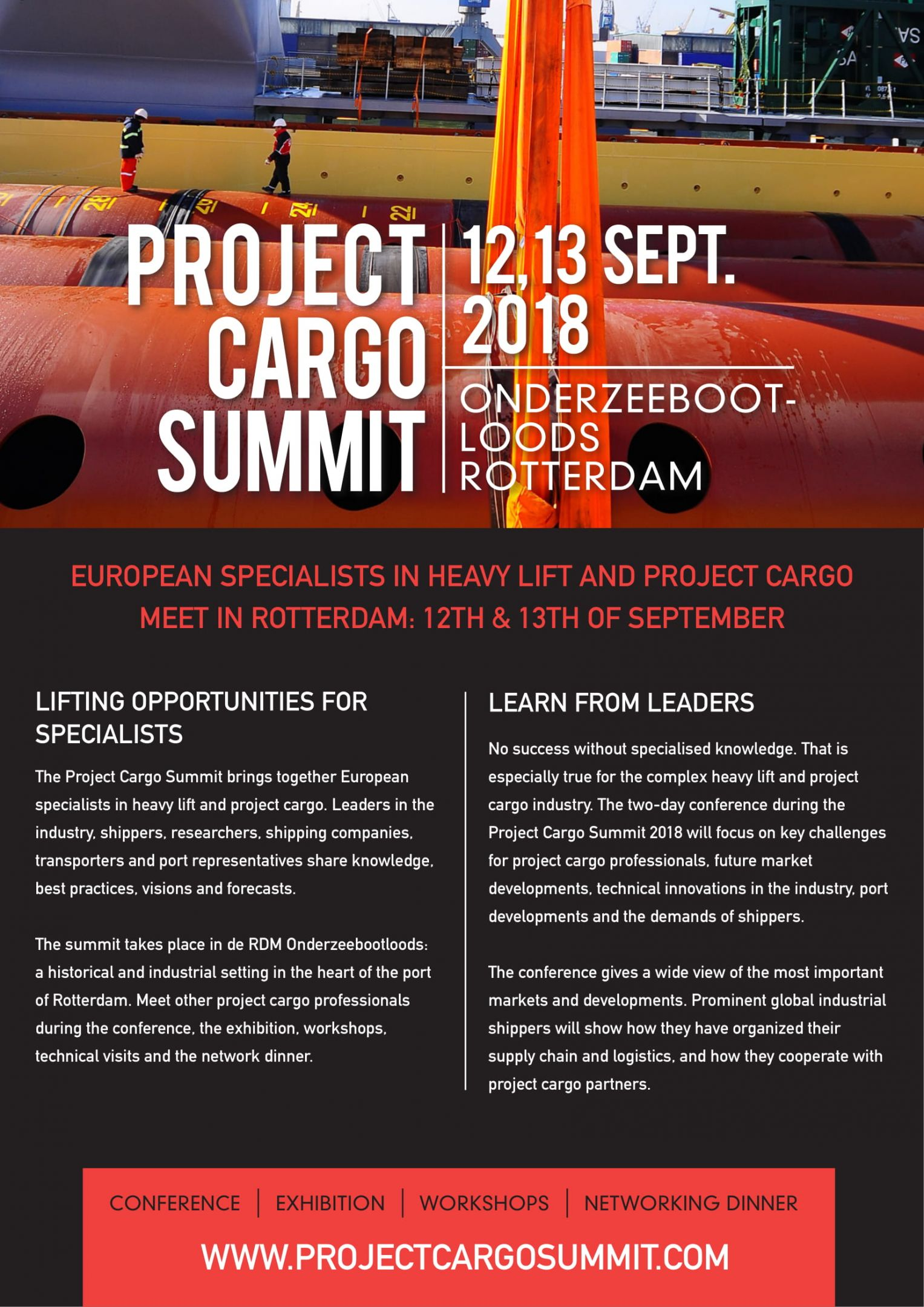 Broekman Logistics is participating in the Project Cargo Summit 2018